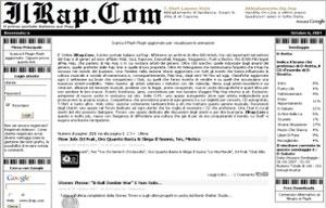 schermata del sito ilrap.com