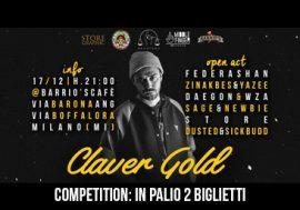 Claver Gold Competition: in palio 2 biglietti