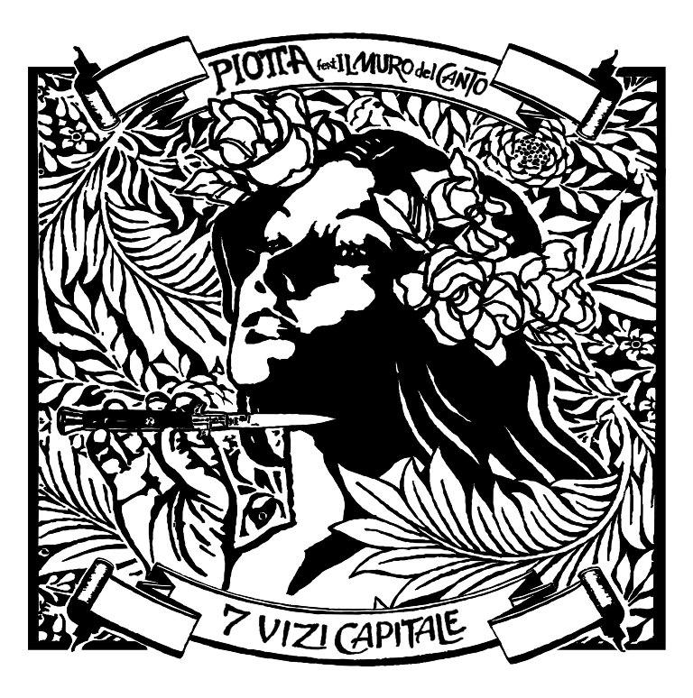 copertina 7 vizi Capitale vinile disegnata da Diamond