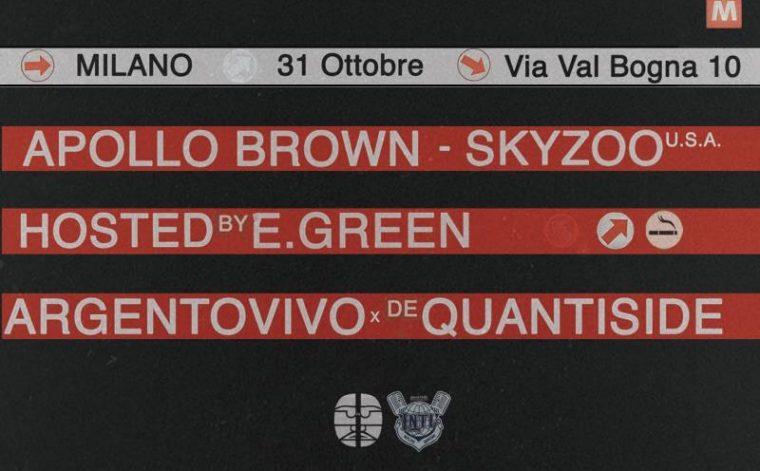 Apollo Brown & Skyzoo (USA) - Hosted by EGreen: vinci uno dei 2 biglietti in palio per l'evento di Milano