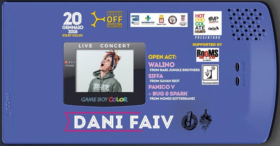 Vinci due biglietti per il live di Dani Faiv del 20 Gennaio ad Andria (BAT)