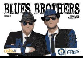 Maxi B nel duo Blues Brothers pronto per la maratona radiofonica su Radio3i