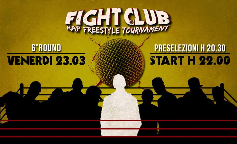 Domani sera a Roma il sesto round del Fight Club - Rap Freestyle Tournament