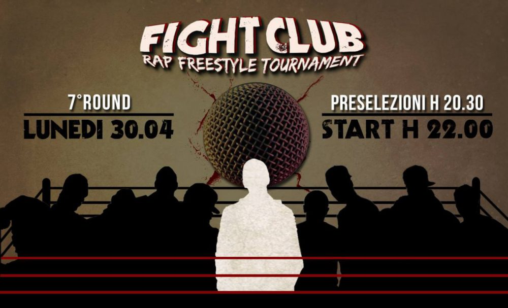 Arriva il settimo round del Fight Club Rap Freestyle Tournament