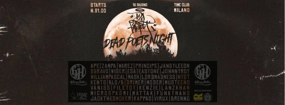 Vinci 2 biglietti backstage per la Dead Poets Night del 16 giugno al Time Club di Milano