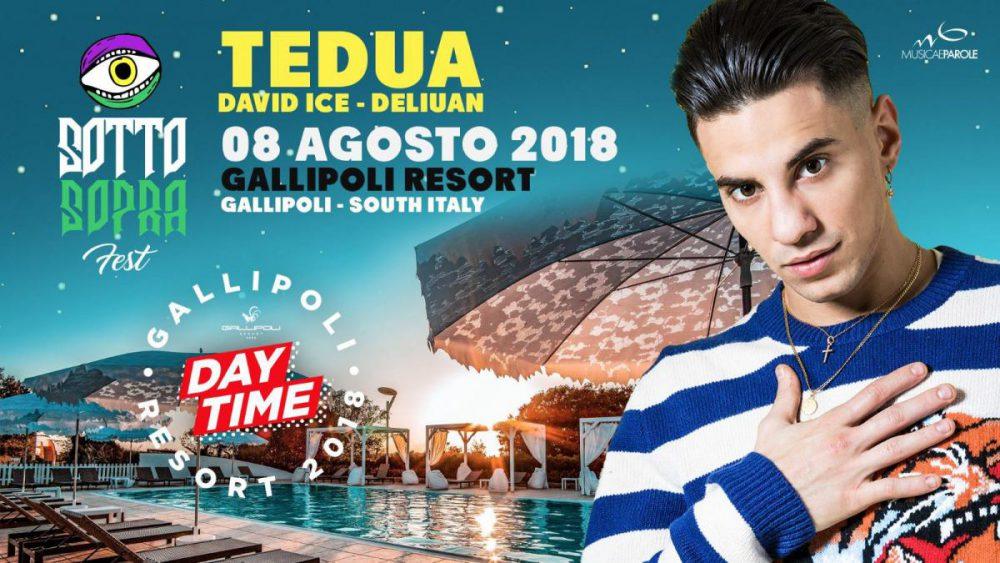 Vinci 2 biglietti per il live di Tedua dell'8 agosto al Sottosopra Fest di Gallipoli