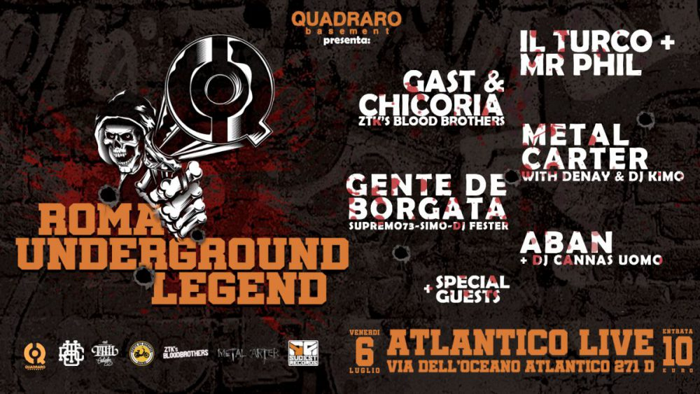 Vinci 2 biglietti per Roma Underground Legend del 6 luglio all'Atlantico di Roma