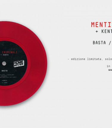 Vinile in edizione limitata del doppio singolo del duo Menti Criminali