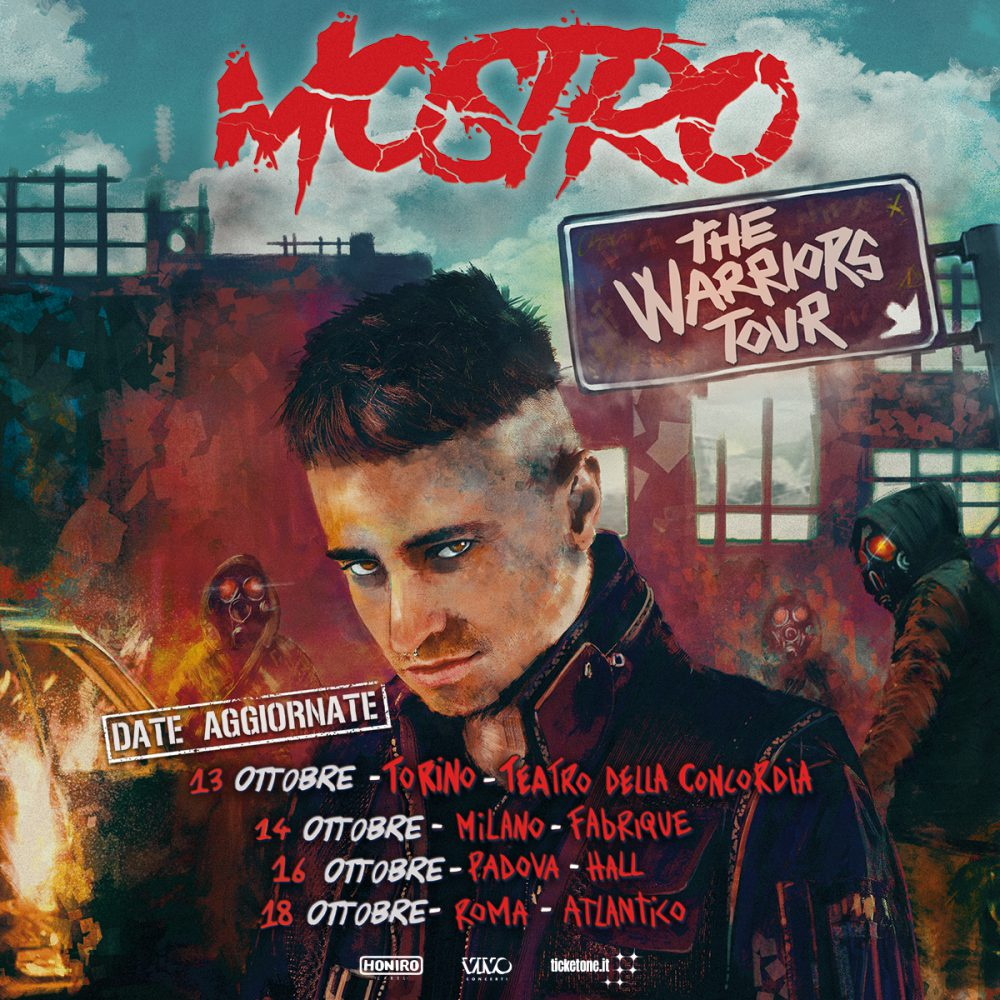 Posticipato a ottobre 2020 il The Warriors Tour di Mostro