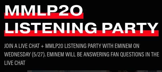 eminem listening party mmlp20