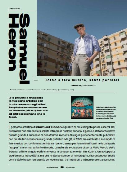 Samuel Heron Billboard Italia giugno 2020