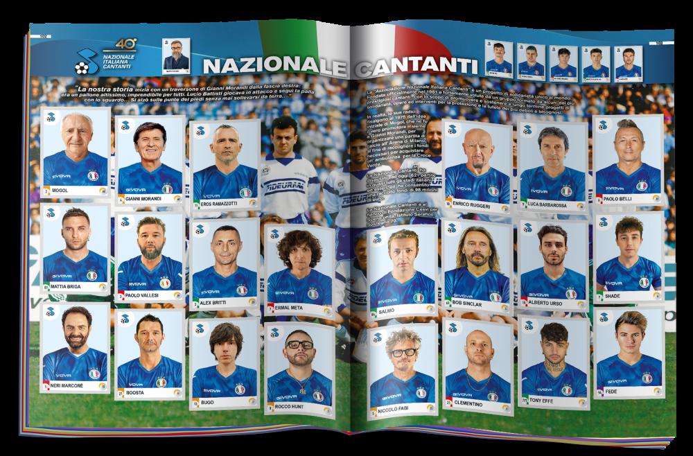 Calciatori Panini 2021 Nazionale Cantanti