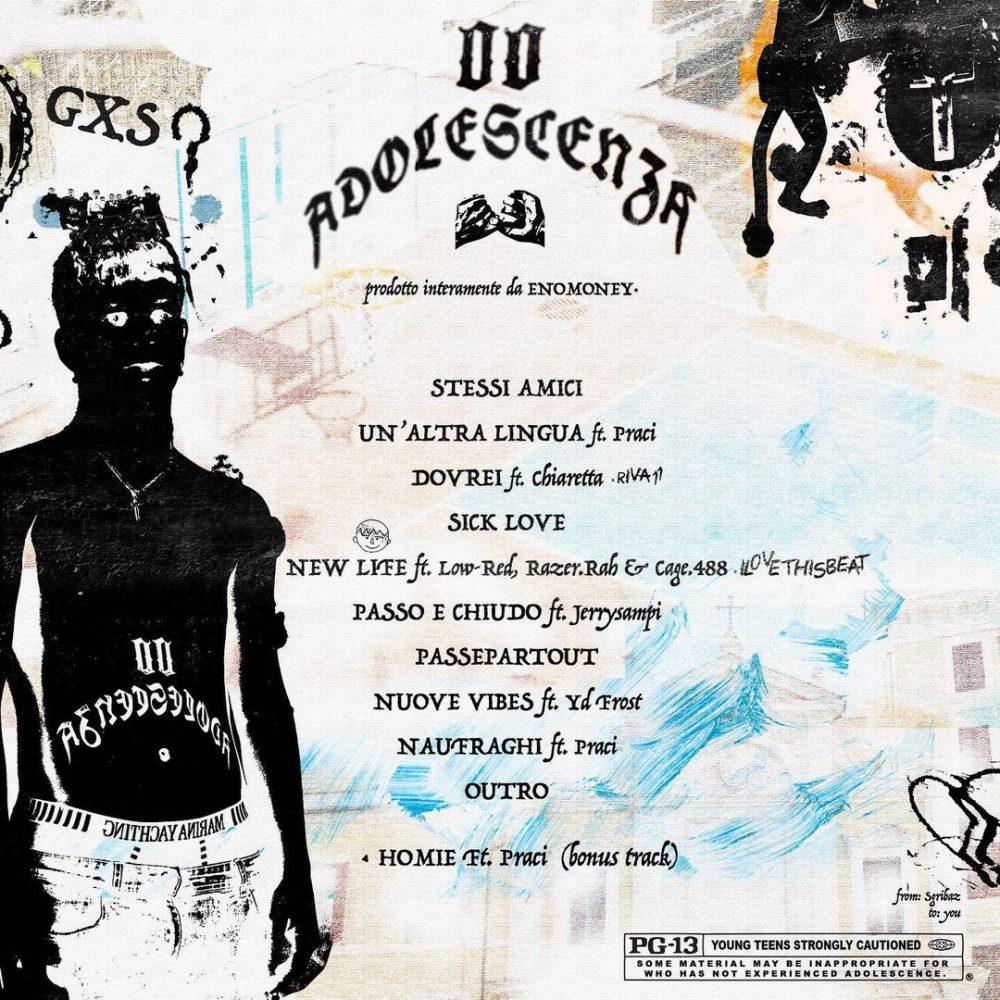 00 Adolescenza Mixtape Cover Back